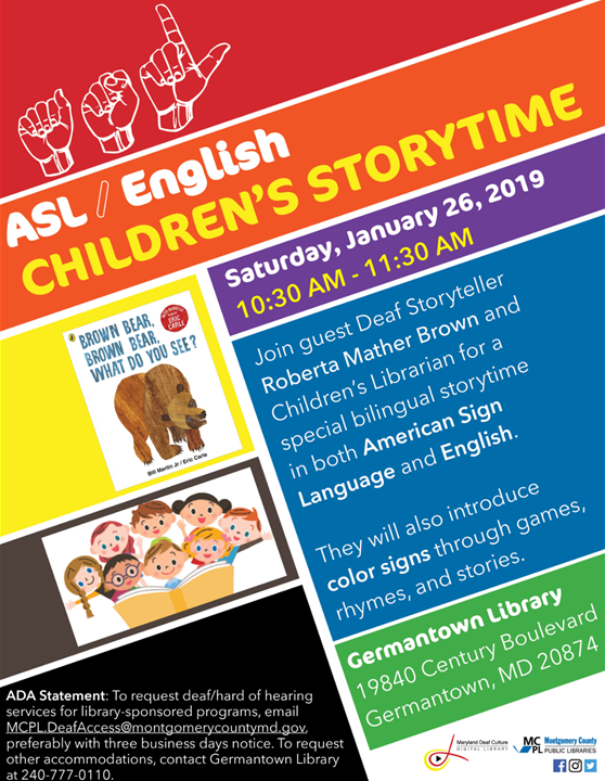 In the Community: ASL / English Children's Storytime at the